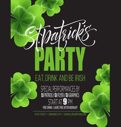 saint patricks day poster design background vector image