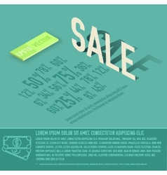 sale card business background concept desig vector image
