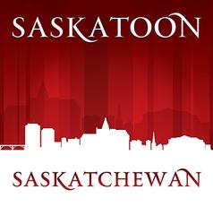 Saskatoon Saskatchewan Canada city skyline silhoue vector image