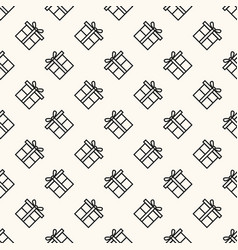 seamless geometric pattern with flat gift vector image