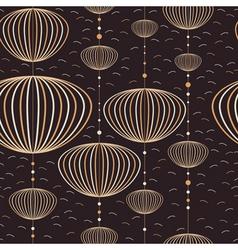 Seamless lantern pattern vector