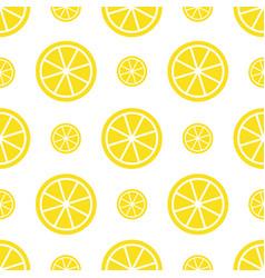 seamless lemon pattern bright yellow fruit vector image