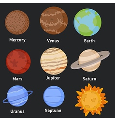 Set of planets vector