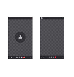 Smartphone screen with call interface screen vector
