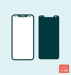 smartphone with top-notch display mobile phone vector image