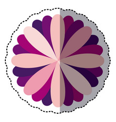 Some color flower with petals icon vector