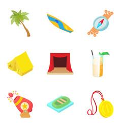 Spot icons set cartoon style vector