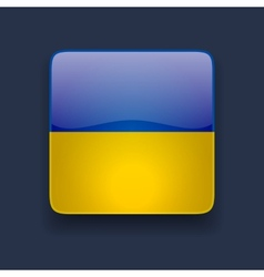 square icon with flag ukraine vector image