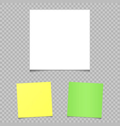 square papers shadow transparent vector image vector image