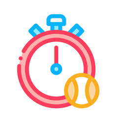stopwatch ball icon outline vector image