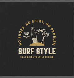 Surf style vintage label summer surfing style vector