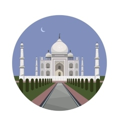 Taj Mahal palace icon vector