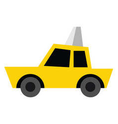 taxi hand drawn design on white background vector image