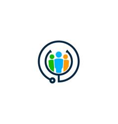 team medical logo icon design vector image