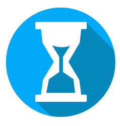 Time or sandglass icon of set material design vector