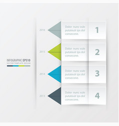 timeline report template green blue gray color vector image