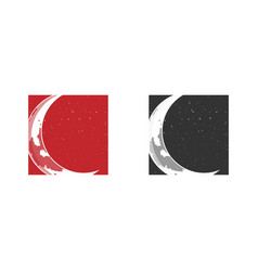 two moon vector image