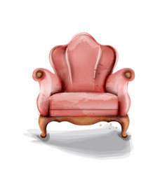 vintage retro armchair watercolor modern vector image