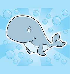 whale underwater vector image
