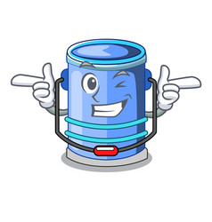Wink cylinder bucket isometric of for mascot vector