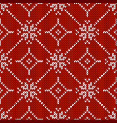 Winter holiday ornament with snowflakes seamless vector