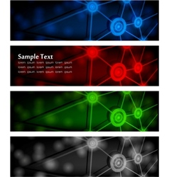 abstract glowing banners vector image vector image