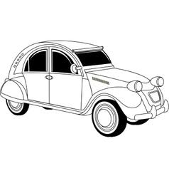 Old vintage car vector image
