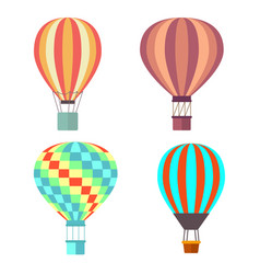 Set classical balloons to travel by air vector