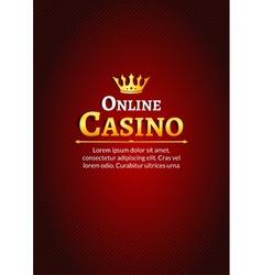 Casino logo template poster Online Casino vector image