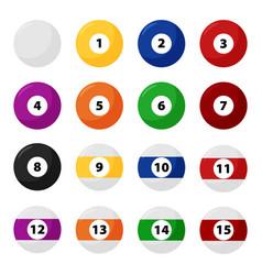 complete billiard balls in flat set vector image