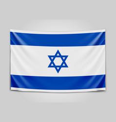 hanging flag of israel state of israel israeli vector image vector image