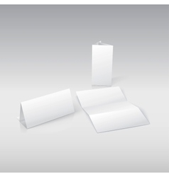 Template blank paper in For your presentation and vector image vector image