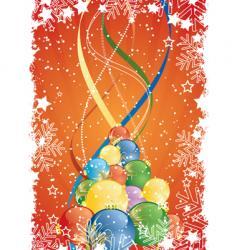 winter ribbons vector image vector image