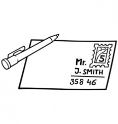 letter and pen vector image vector image