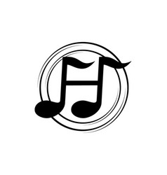 music learning center letter h vector image