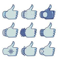 Set of like signs in different styles vector image vector image