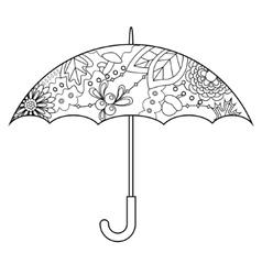 Umbrella coloring vector image vector image