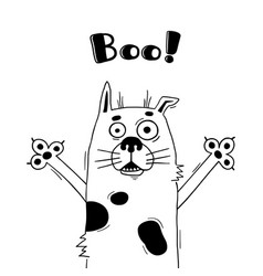 with dog who shouts - boo for design vector image vector image