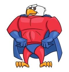 Eagle superhero posing 2 vector image vector image