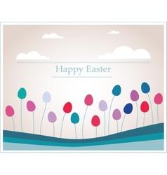 Easter eggs that looks like flowers in retro vector image