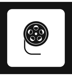 Film reel icon simple style vector image