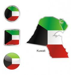 kuwait vector image vector image