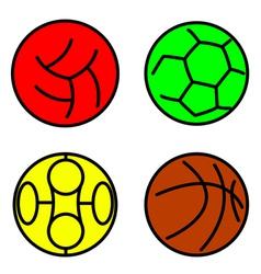 Set sport balls vector image