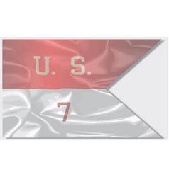 7th cavalry silk flag vector