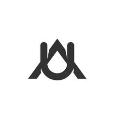 A u letter logo lettermark au monogram typeface vector