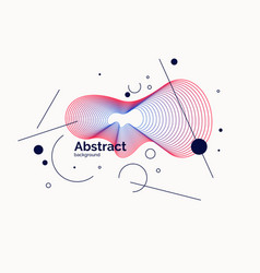 abstract background in a flat minimalistic style vector image