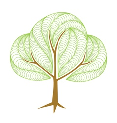 Abstract green tree vector image