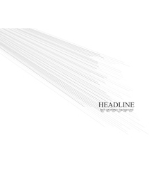 Abstract tech grey lines background vector