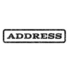 address watermark stamp vector image