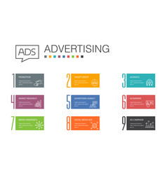 Advertising infographic 10 option line concept vector